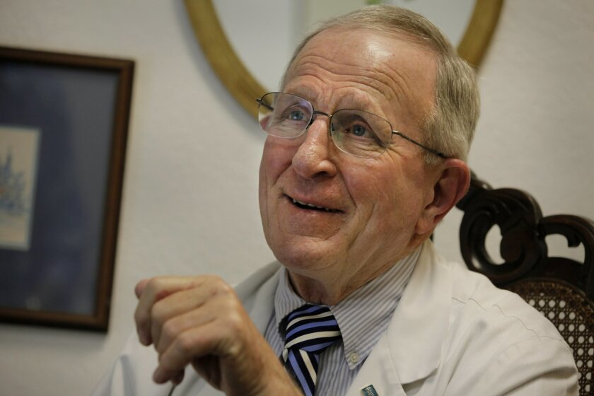 Dr. Doug Moir, a cardiologist in Escondido, has less time for patients since electronic health record software became federally mandated. Mandatory photo credit:  Peggy Peattie/UT San Diego/ZUMA  Press; Copyright U-T