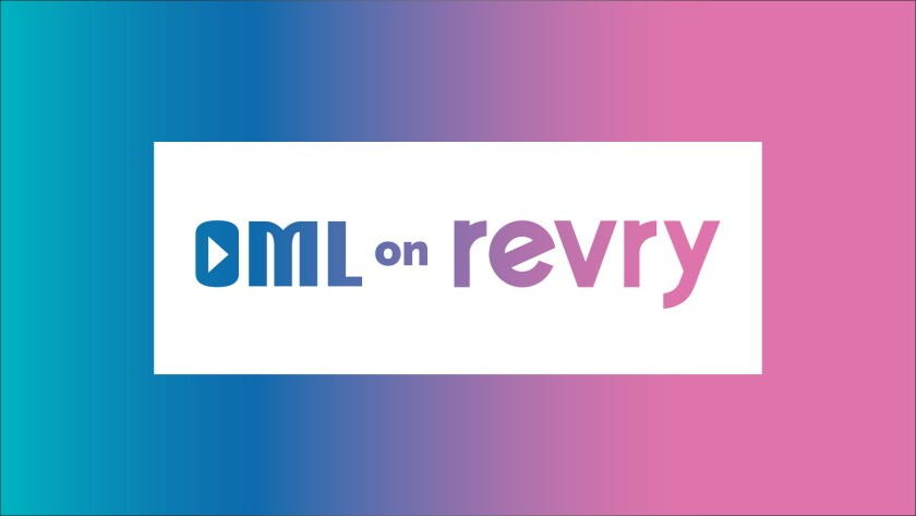 This image shows the logo for the online channel OML on Revry, devoted to women in the LGBTQ community. The channel debuts Thursday as part of Revry, a digital platform that offers free, ad-supported LGBTQ programming. (OML on Revry via AP)