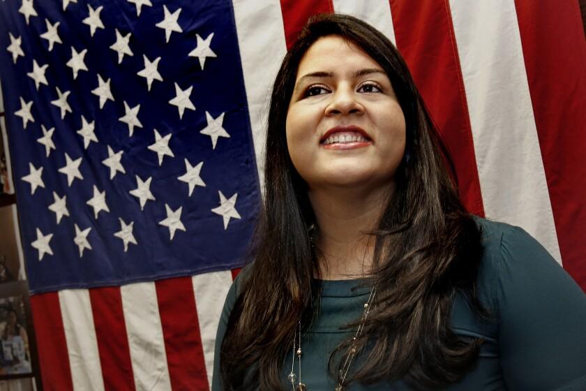 Lorella Praeli, Latino outreach director for Hillary Rodham Clinton, at the campaign's headquarters in Brooklyn, N.Y.