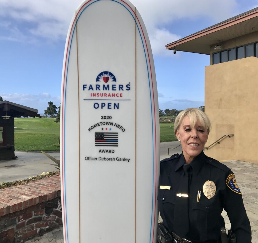 Police officer Debbie Ganley has guarded and guided players ranging from Tiger Woods and Phil Mickelson to Ernie Els and John Daly at San Diego's annual PGA Tour stop.