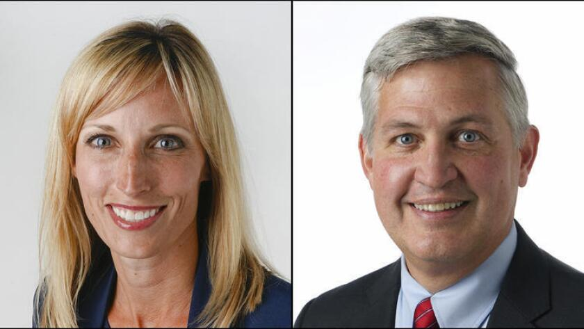 Encinitas Mayor Kristin Gaspar and County Supervisor Dave Roberts