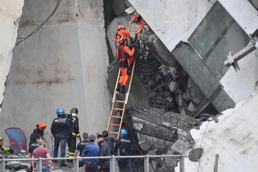 El Gobierno de México le expresó al de Italia su solidaridad ante la pérdida de una veintena de vidas como consecuencia del derrumbe de un puente en la ciudad de Génova, informó hoy la Secretaría de Relaciones Exteriores de este país. EFE/ARCHIVO