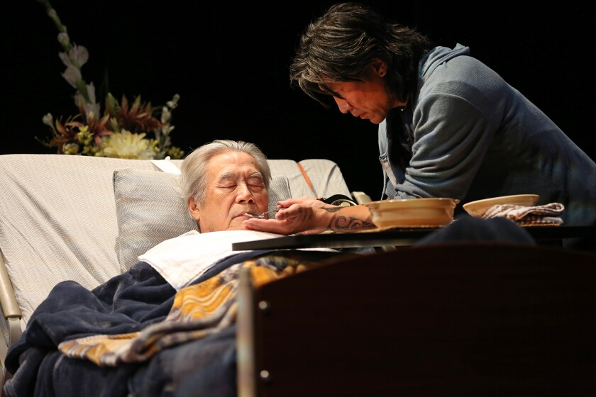 Review: For the Korean family in 'Aubergine' at South Coast Repertory, food is love, and loss