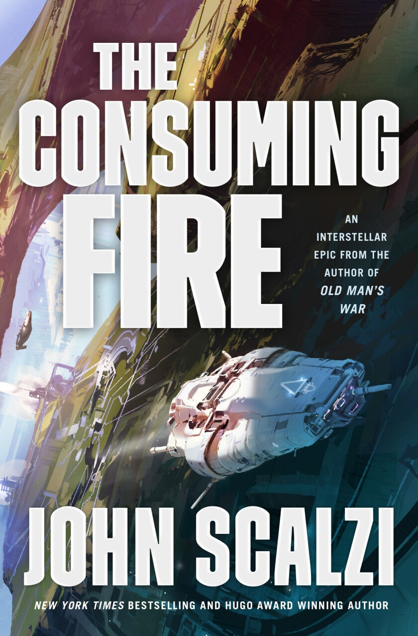 Book jacket from ?The Collapsing Empire? by John Scalzi.