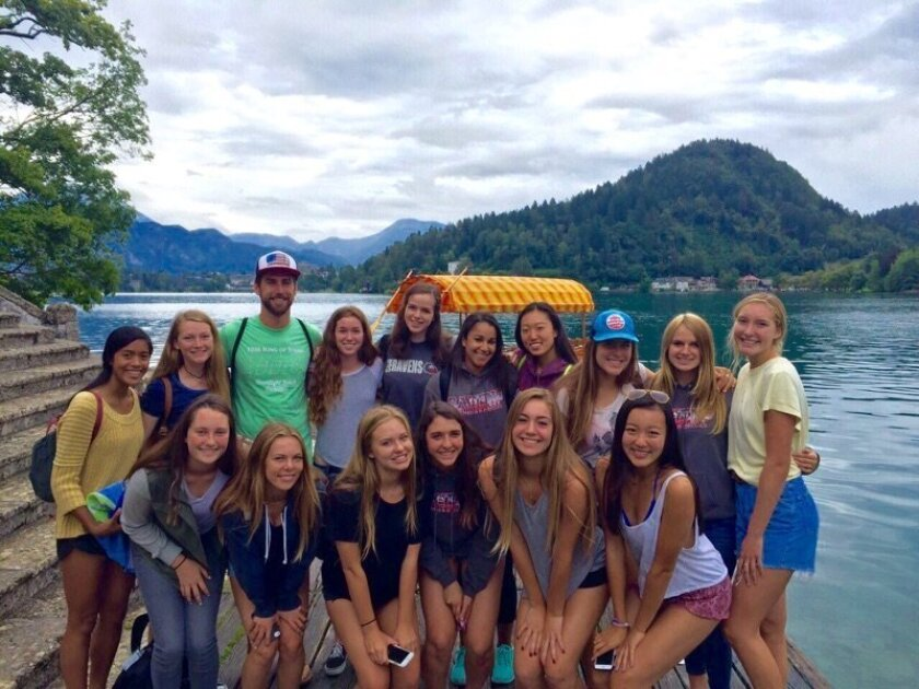 The Canyon Crest Academy volleyball team on their trip abroad.