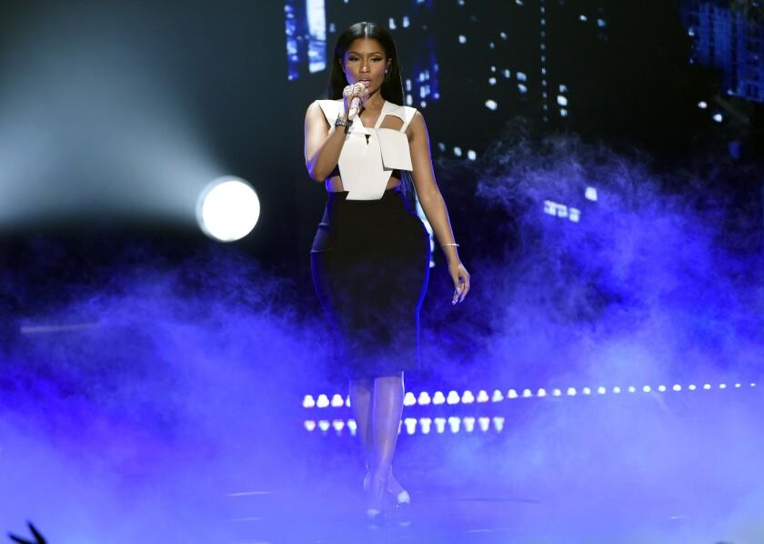 Nicki Minaj performs June 28 at the BET Awards in Los Angeles.