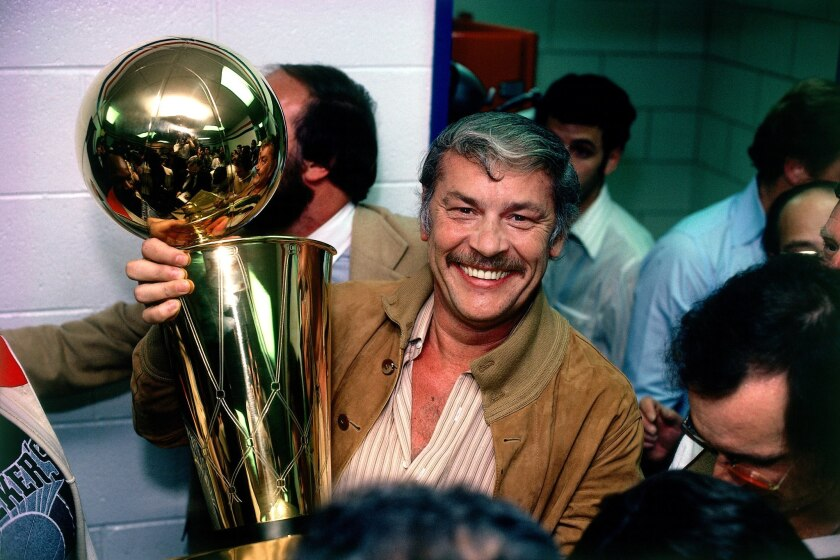Magic Johnson says that Lakers owner Jerry Buss, shown here in 1980, wanted Byron Scott to coach the Lakers after Phil Jackson retired.