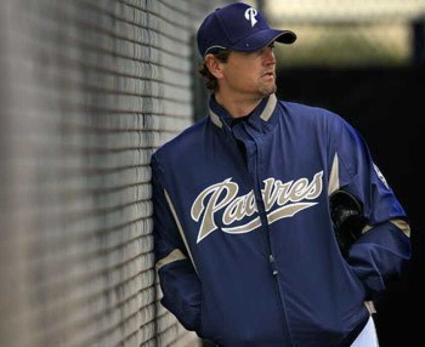 Trevor Hoffman during spring training in Peoria in February.