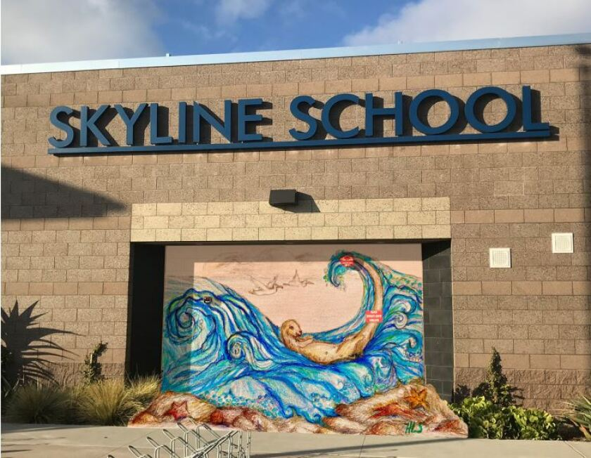 A rending of the proposed mosaic mural at Skyline School.