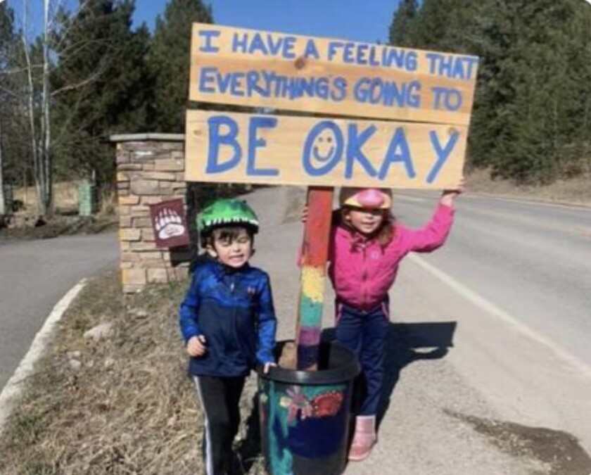 "Kids in Colorado copied the Talmadge ""Okay"" sign and displayed it in their neighborhood."