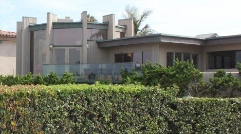 Rear view of the Barber Tract home at 7106 Vista del Mar that the Biddulphs hope to rebuild.