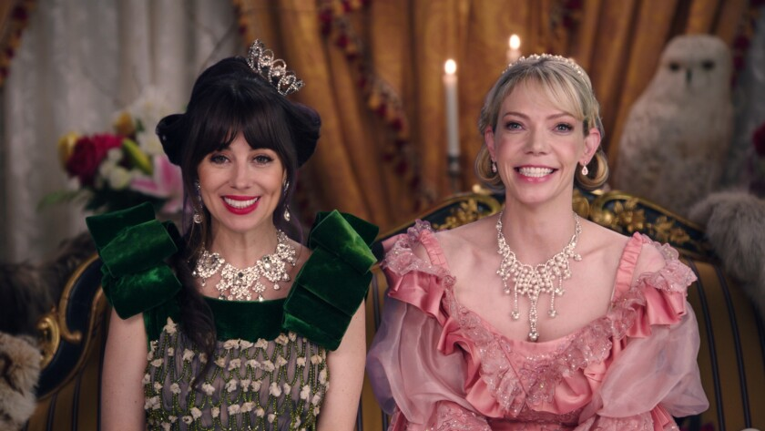l-r Natasha Leggero, Riki Lindhome in Another Period on Comedy Central