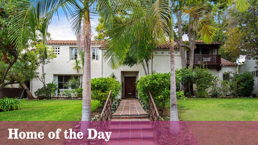 The Spanish Revival-style home, with its original features and period details, is listed for sale in Beverly Hills at $5.795 million.