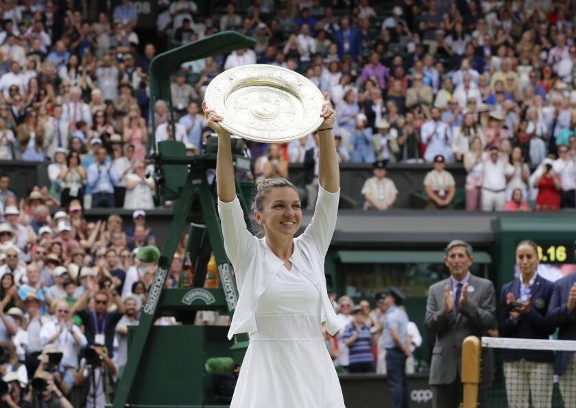 Virus Outbreak Britain Wimbledon Tennis
