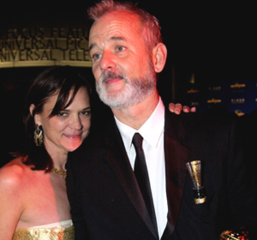 Bill Murray and his wife Jennifer, as seen at the Golden Globe Awards in 2004.
