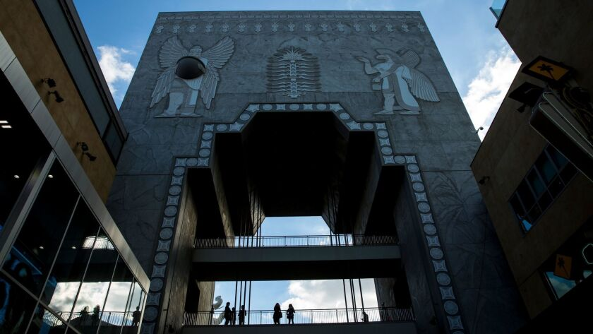 LOS ANGELES, CA - FEBRUARY 28: The Hollywood & Highland Center's Babylon Court, was modeled after th
