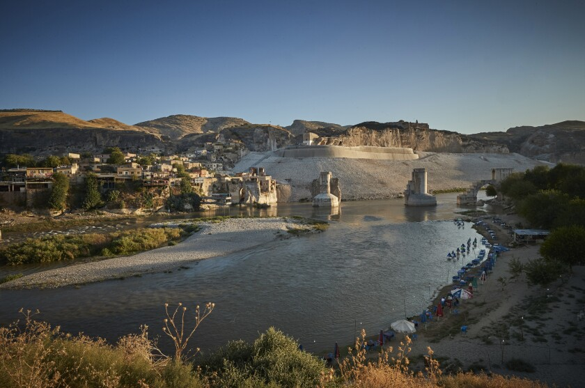 The town of Hasankeyf on the banks of the Tigris River
