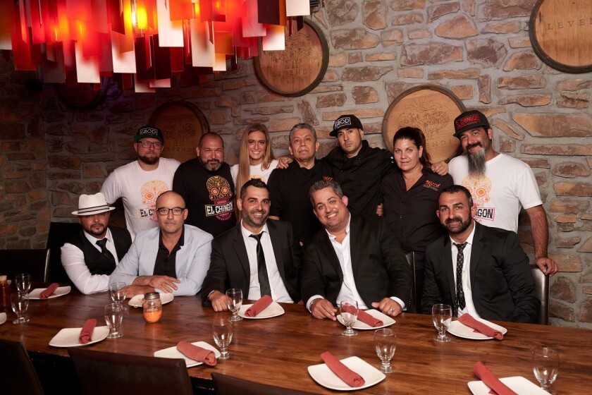 Josue Camejo, Aleko Achtipes, Raymond Davoudi, Joe Santos, Patrick Davoudi. BACK ROW (from left): Ryan Andrews, Gabriel Garza, Hannah Dodge, Gustavo Rivera, Tony Porras, Veronica Goodwin, Rodney Daylamy.