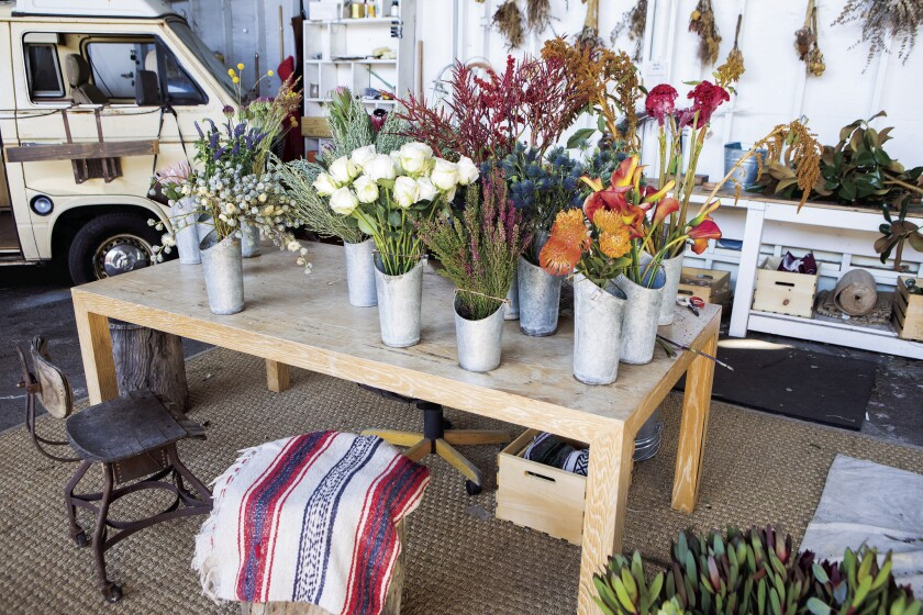 Falls uses unique bouquets to attract customers.
