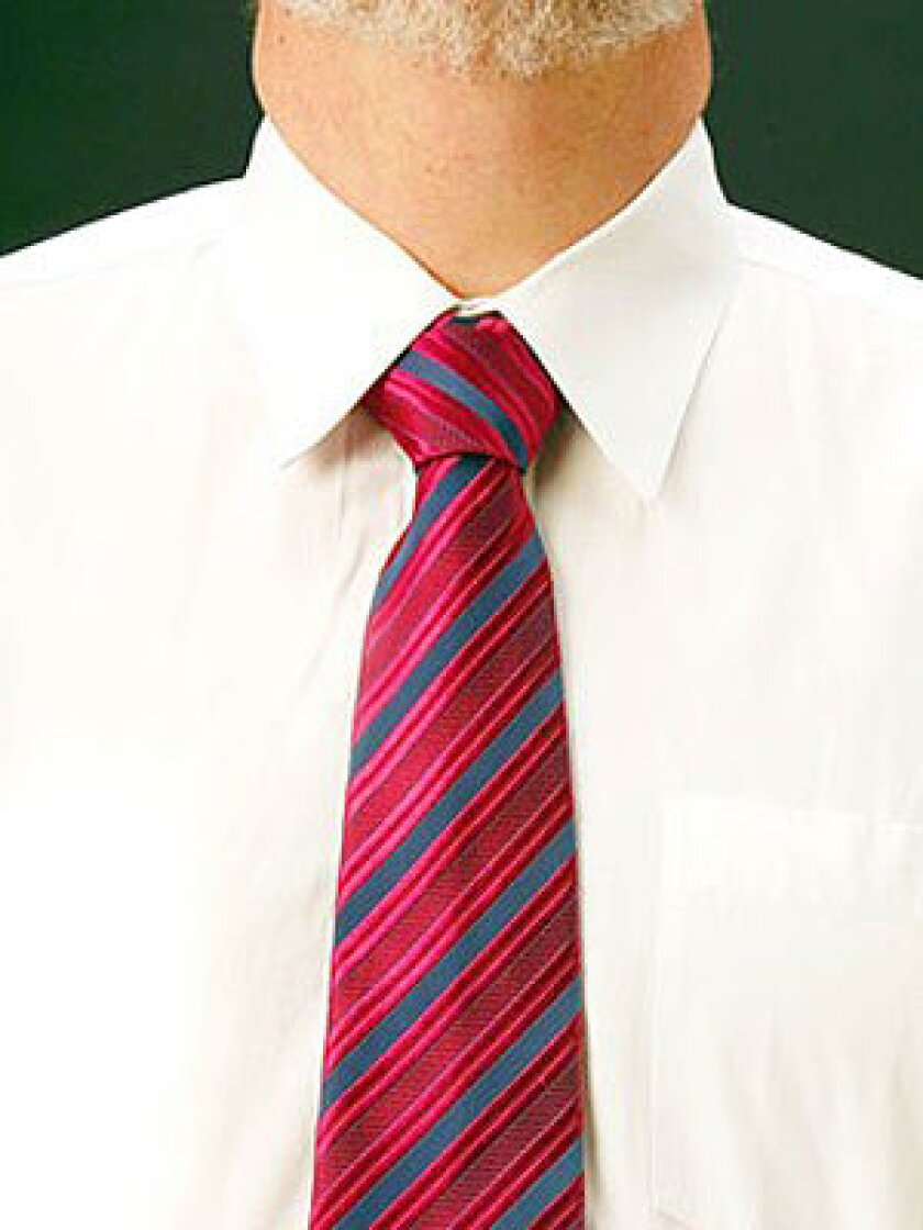 STANDARD: The stripes on the knot go the opposite way.