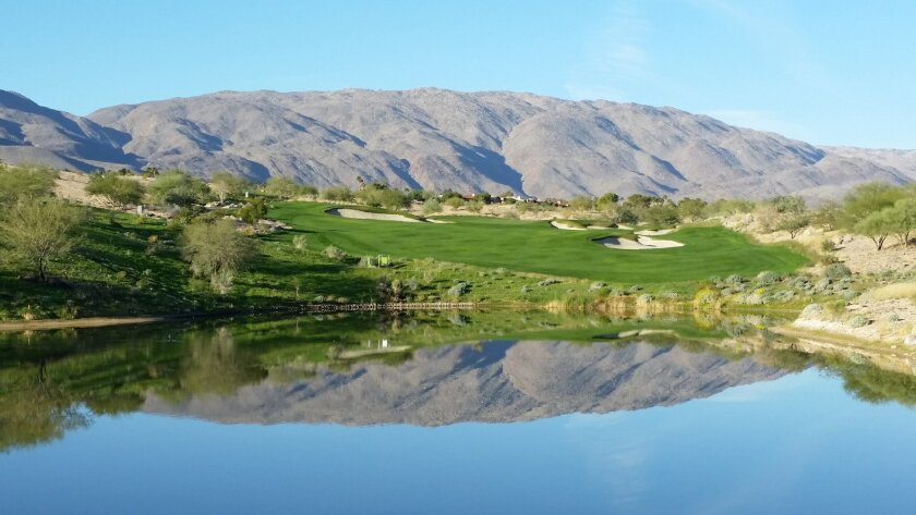 No. 12  tee at the new Rams Hill golf course in Borrego Springs.