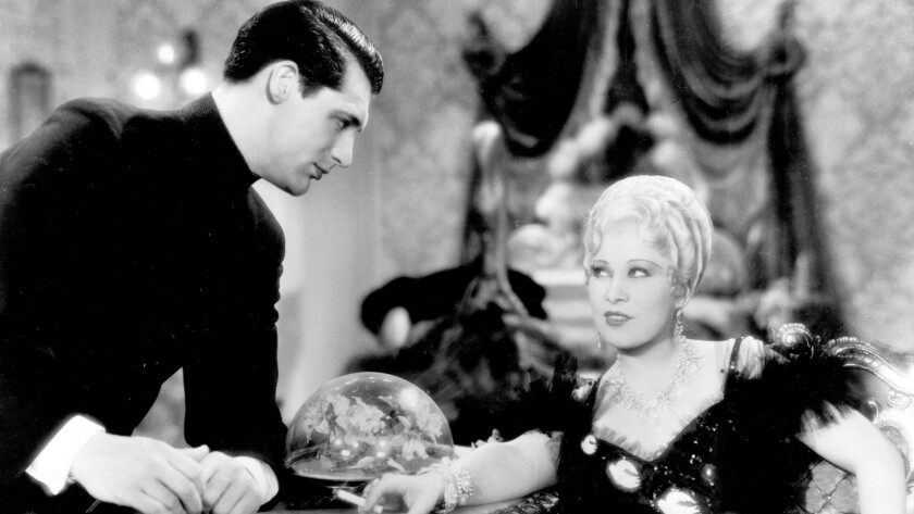 """Cary Grant and Mae West in """"She Done Him Wrong."""""""