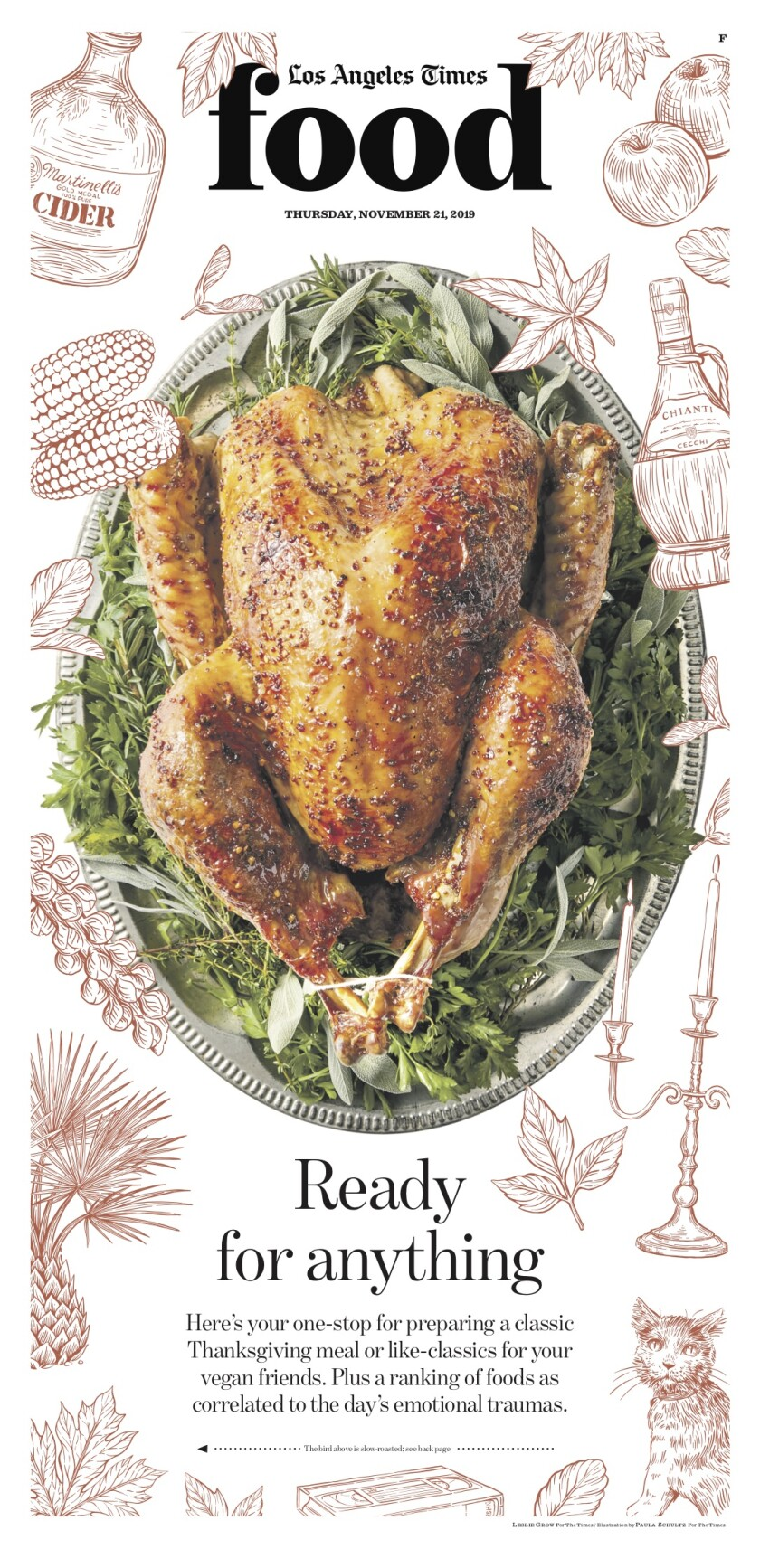 Los Angeles Times Food cover, November 21, 2019