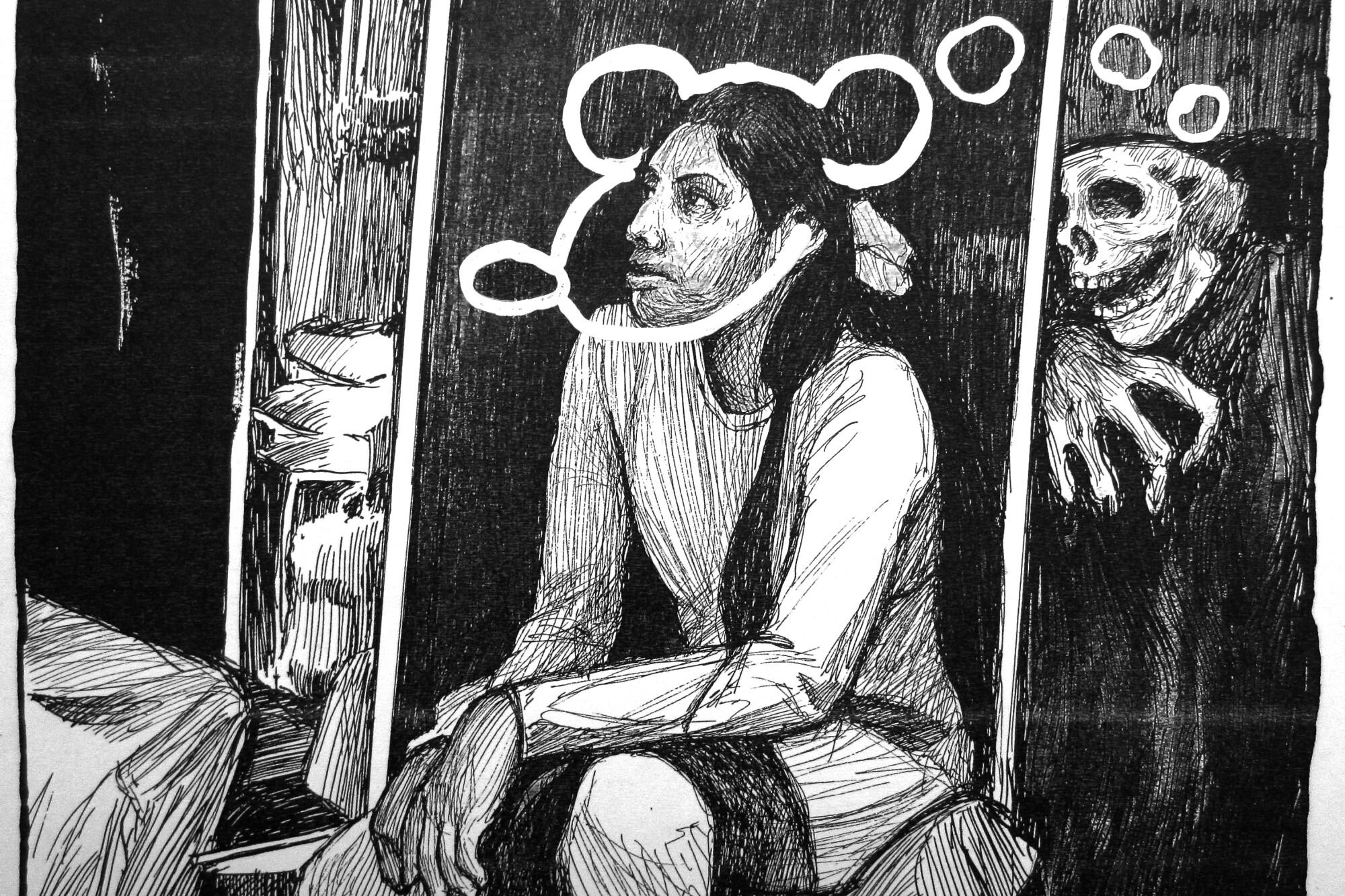 """A Portrait of Berenice Sarmiento Chávez,"" (2018) by Hugo Crosthwaite"