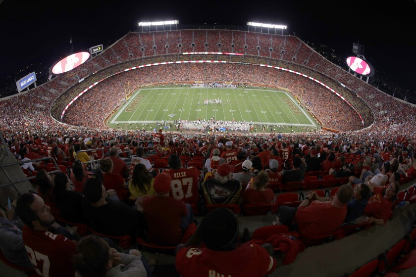 Kansas City Chiefs fans at Arrowhead Stadium.