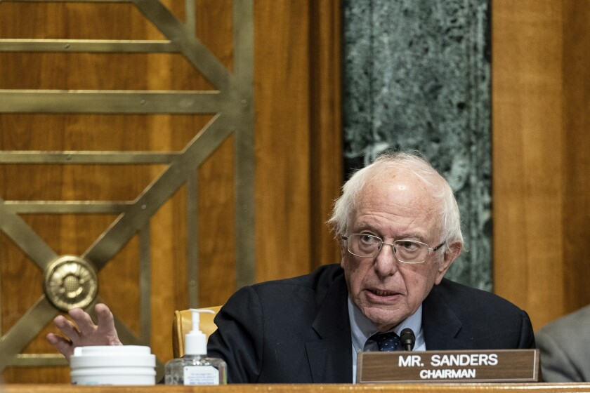 Bernie Sanders speaks in Congress