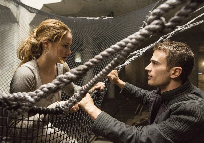 "Shailene Woodley and Theo James star in ""Divergent."""
