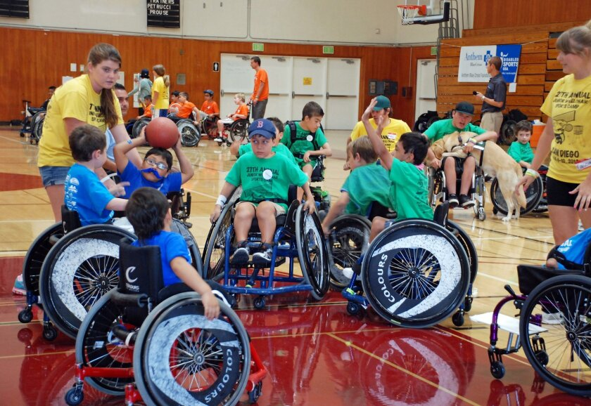 Wheelchair basketball is among the 15 sports offered at the 29th annual Junior Adaptive Sports Camp on Aug. 11-15. Courtesy photo