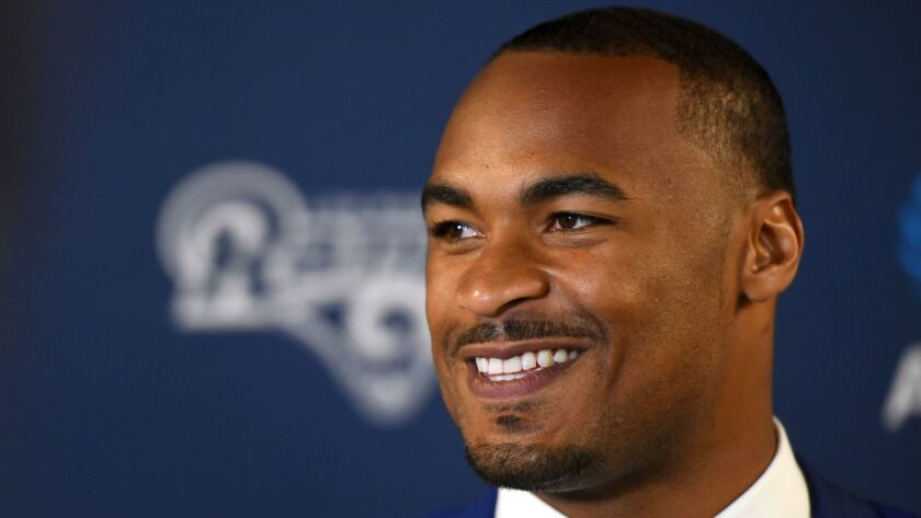 Rams receiver Robert Woods says he has had some racial experiences growing up in Los Angeles.