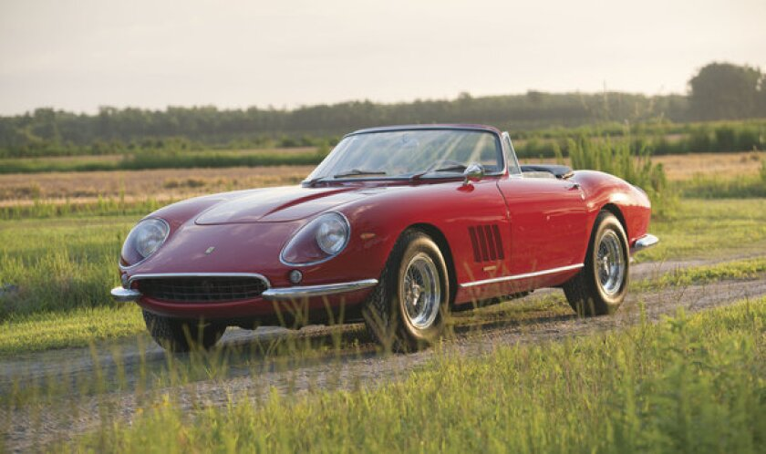This rare 1967 Ferrari 275 GTB/4*S N.A.R.T. Spider is one of only 10 made and has been owned by one family since new. It could bring between $14 million and $17 million at auction, with all proceeds going to charity.