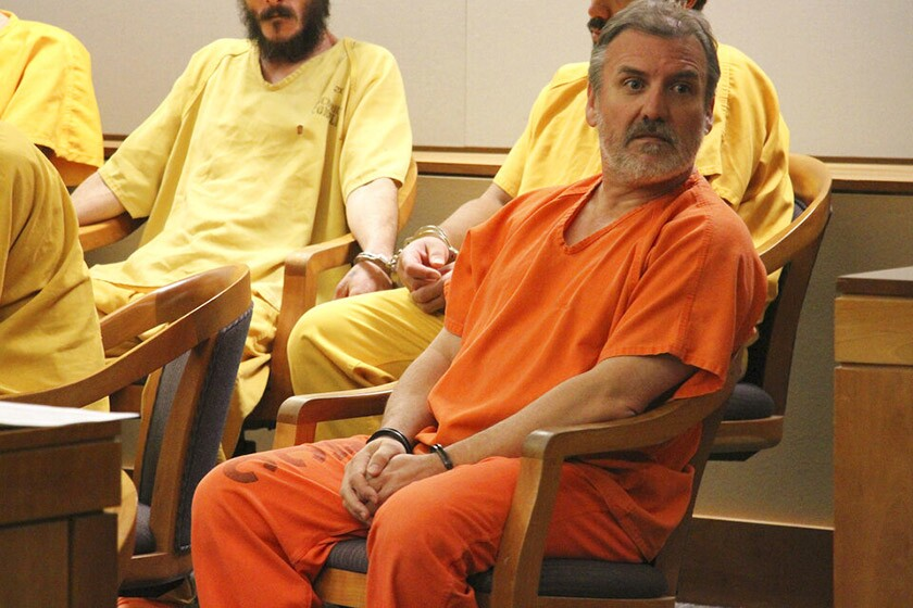 Brian Steven Smith sits in a courtroom Oct. 21 in Anchorage.  Police said Smith, 48, told them where he left the body of Veronica Abouchuk.