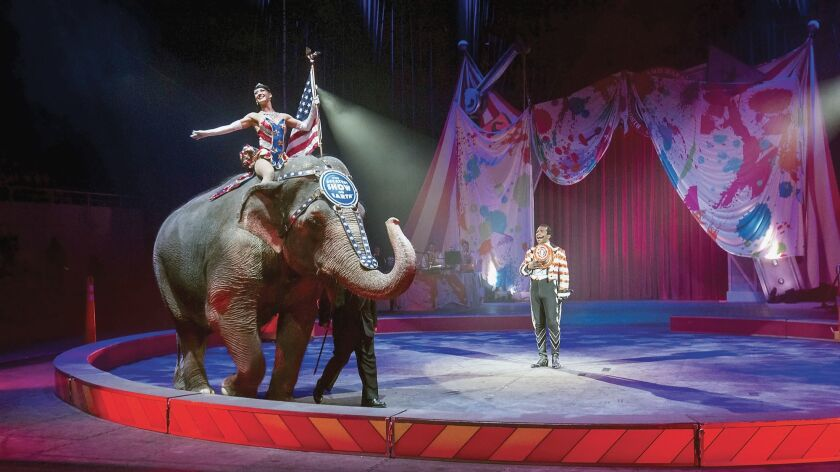 The Ringling Brothers and Barnum & Bailey Circus performs in Knoxville, Tenn on Feb. 19, 2015.