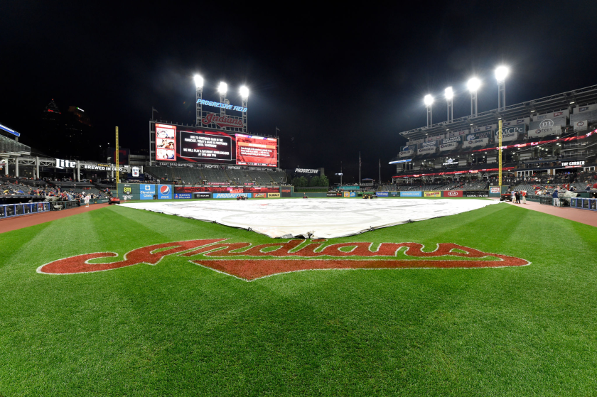 Progressive Field after a game between the Cleveland Indians and the Minnesota Twins.