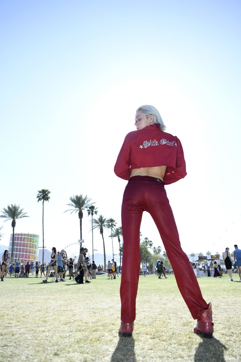 INDIO, CA-April 13, 2019: Andres Felizzola displays his sense of style during day 2 at the Coachell
