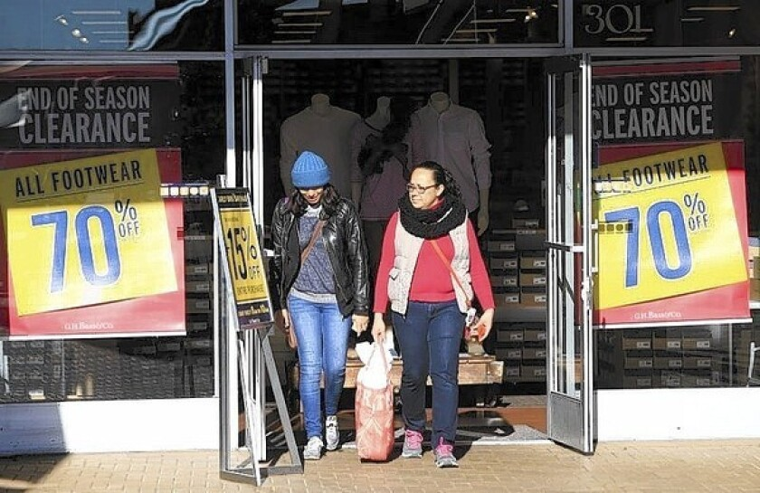 Retail sales rose 0.2% in December from the previous month, the Commerce Department reported.