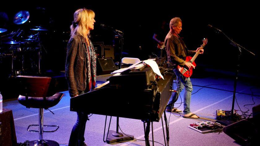 CULVER CITY, CALIF. - MAY 17, 2017. Christine McVie, left, and Lindsey Buckingham, members of the R