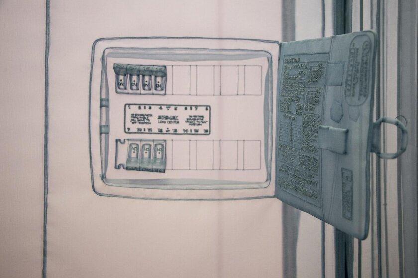 Circuit box, on apartment wall.