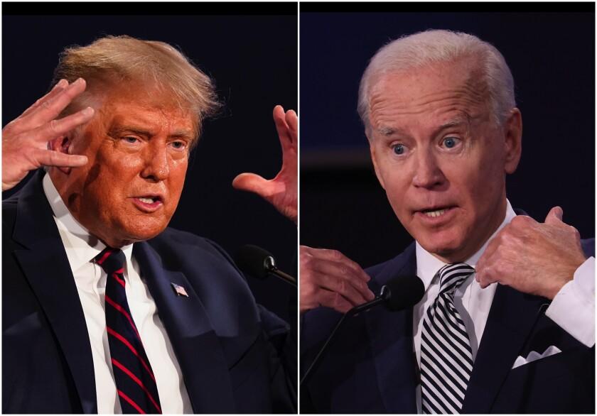El presidente Trump y el candidato presidencial demócrata Joe Biden se enfrentan en el primer debate presidencial