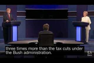 How big are Trump's proposed tax cuts? Clinton calls them 'massive'