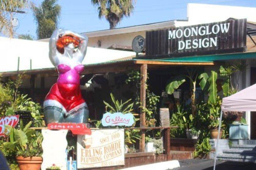 """Big Loie"" by sculptor Lorenzo Foncerrada is on display at Moonglow Design Art Gallery, 5763 La Jolla Blvd. in Bird Rock. Photo by Ashley Mackin"