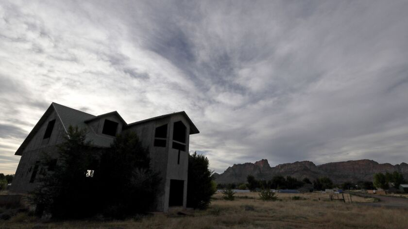 COLORADO CITY, AZ. - JUNE 22, 2018. Large homes favored by members of the Fundamentalist Chruch of