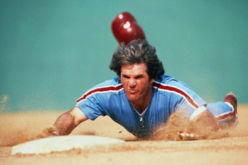 Pete Rose in his playing days.