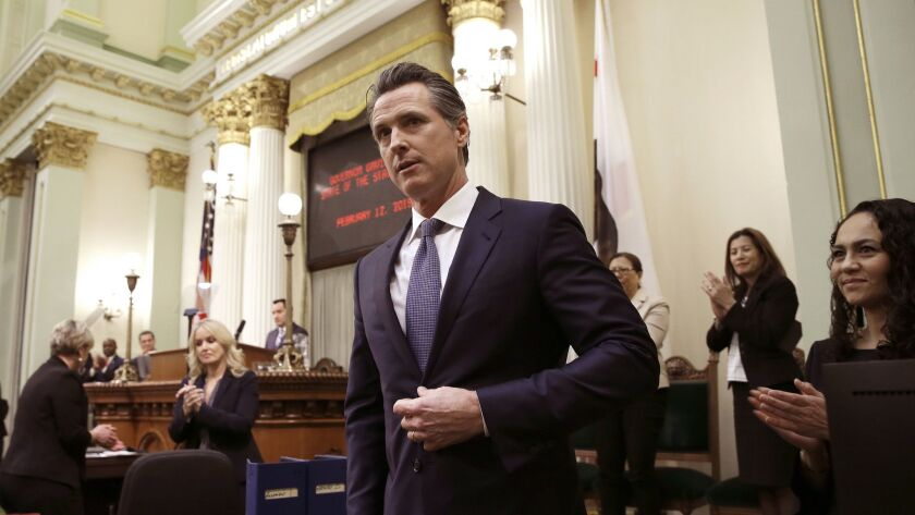 "Gov. Gavin Newsom says state consumers should get a ""data dividend"" from technology companies like Google and Facebook that make money by capitalizing on the personal data they collect."