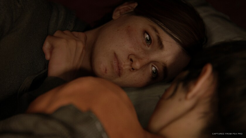 "Ellie and Dina in ""The Last of Us Part II."""
