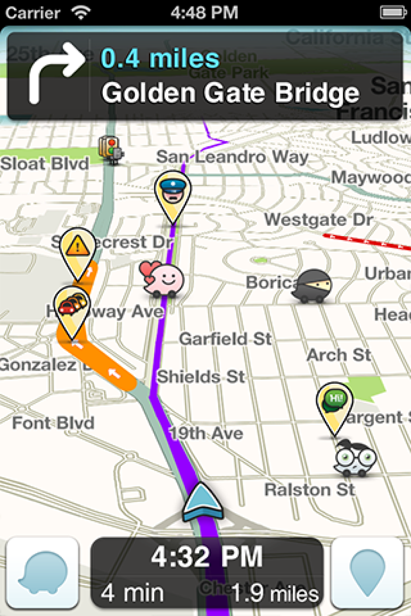 By adding user-reported data from Waze, above, Google Maps is staying miles ahead of its competition.