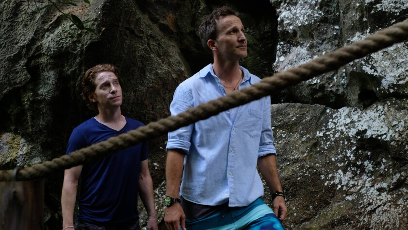 (L-R)- Dan (Breckin Meyer) and Brandon (Seth Green) take advice from a local legend, Martin (Randy O